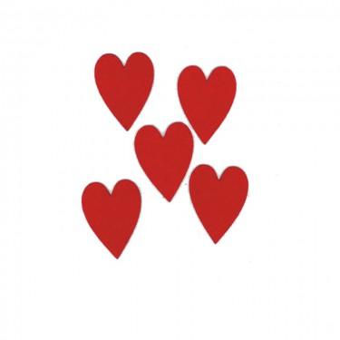 Filcfigura Nyújtott szív 6 cm 5 db/cs