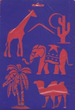 Meyco Műanyag sablon Szafari