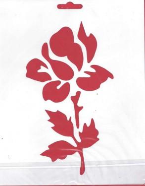 Műanyag sablon Rózsa