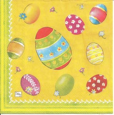 Dekorszalvéta - Színes tojások