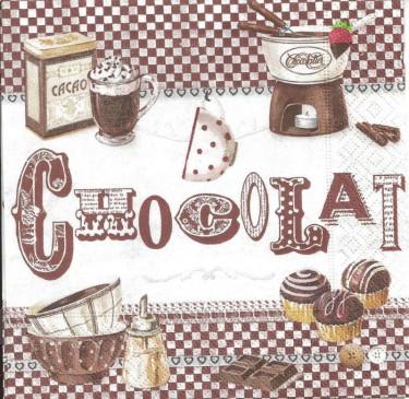 Dekorszalvéta - Chocolat Fondant