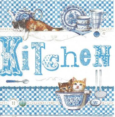 Dekorszalvéta - Blue Kitchen