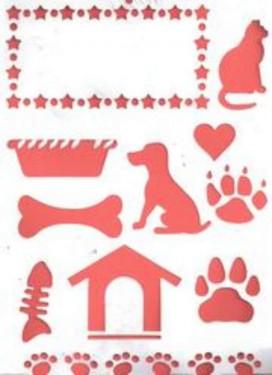 Sablon, Kutya és cica