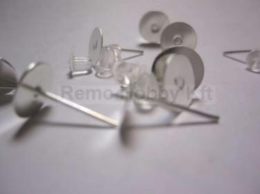 Bedugós fülbevalóalap műanyag záróval 10 db/cs