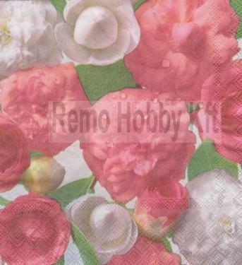 Dekorszalvéta - Rózsa 15