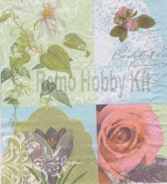 Dekorszalvéta - Rózsa 14