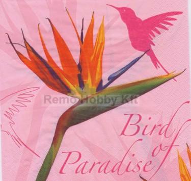 Dekorszalvéta - Bird of Paradise Pink
