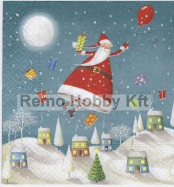 Dekorszalvéta - Hovering Santa