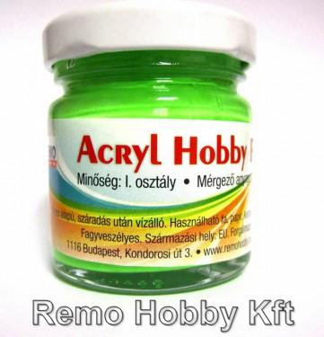 Akrilfesték REMO Hobby / fluoreszkáló Neonzöld 40 ml