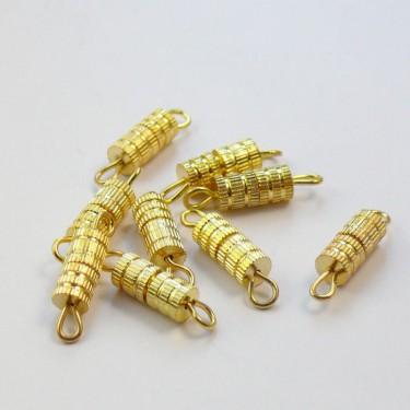 Csavaros kapocs Arany 14 mm 10 db/cs