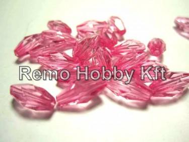 Csiszolt rizs alakú gyöngy Rózsaszín 10 mm