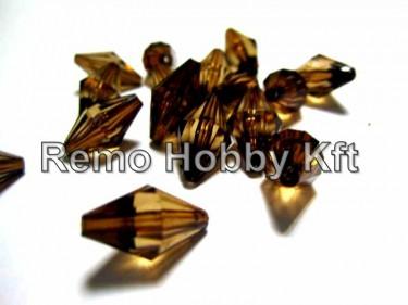Csiszolt gyémánt alakú gyöngy Barna 15 mm 10 g
