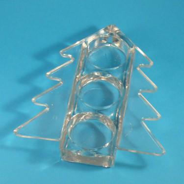 Díszüveg - Fenyőmécses, hármas