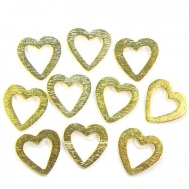 Ragasztható festett fafigura - Arany szív