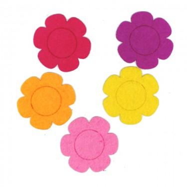 Filcfigura Lapos szirmú virág 6 cm 5 db/cs