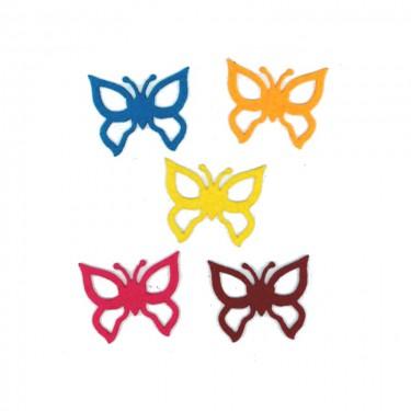 Filcfigura Pillangó (lyukas) 5x6 cm 5 db/cs