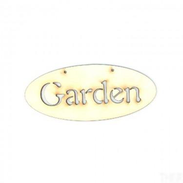Festhető fafigura Garden tábla 14x6 cm 1 db/cs