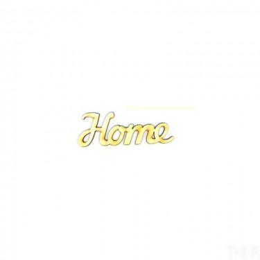 Festhető fafigura Home felirat nagy 12x4 cm 1 db/cs