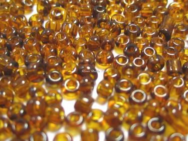 Átlátszó kásagyöngy Barna 2 mm 20 g