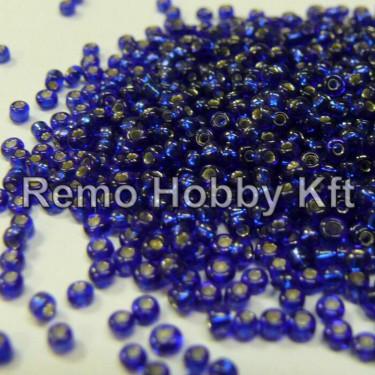 Ezüstközepű kásagyöngy Kék 2 mm 20 g