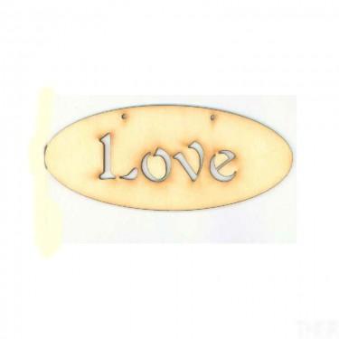 Festhető fafigura Love tábla 14x6 cm 1 db/cs
