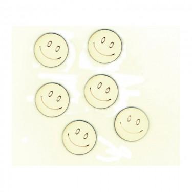 Festhető mini fafigura Smile 6 db/cs
