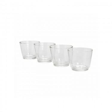 Díszüveg - Gyertyatartó pohár
