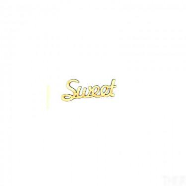 Festhető fafigura Sweet felirat nagy 11.5x4.5 cm 1 db/cs
