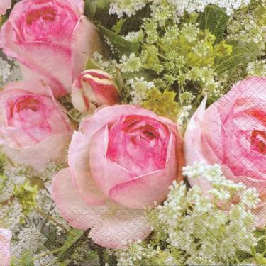 Dekorszalvéta - Rózsa 2