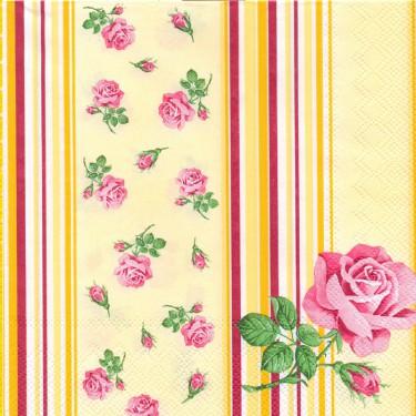 Dekorszalvéta - Rózsa 8