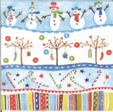 Dekorszalvéta - Snowmen