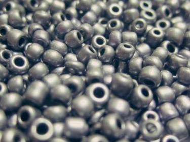 Metál kásagyöngy Matt ezüst 2 mm 20 g