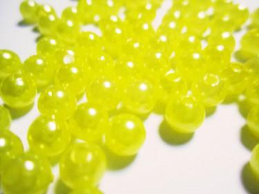 Műanyag teklagyöngy Citromsárga 6 mm 10 g