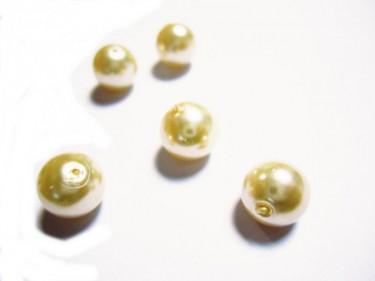 Üveg teklagyöngy Ekrü 8 mm 10 g