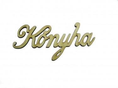 Festhető fafigura Konyha felirat nagy 16.5x8.5 cm 1 db/cs
