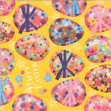 Dekorszalvéta - Multi Coloured Easter Eggs