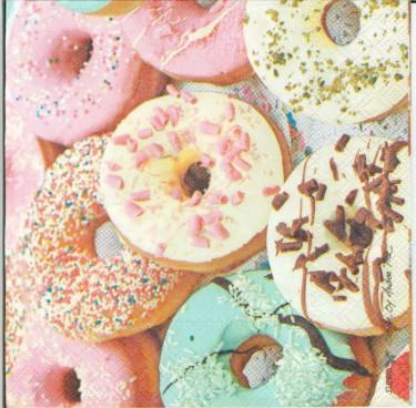 Dekorszalvéta - Donuts
