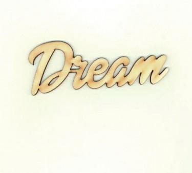 Festhető fafigura Dream felirat nagy 13x5 cm 1 db/cs