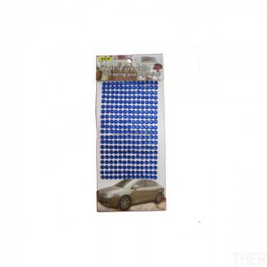 Öntapadós strasszkő Sötétkék 7 mm