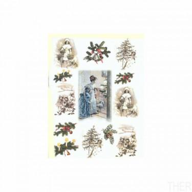 Karácsonyi rizspapír R198