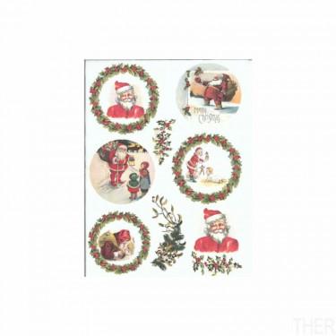 Karácsonyi rizspapír R576