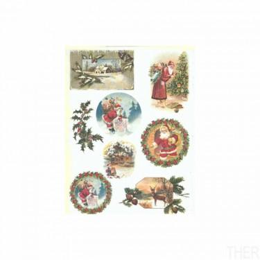 Karácsonyi rizspapír R583
