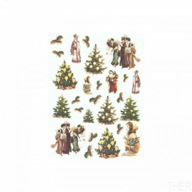 Karácsonyi rizspapír R603