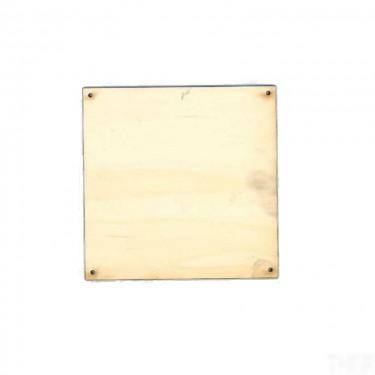 Négyzet alakú fúrt falap 12x12 cm 10 db/cs