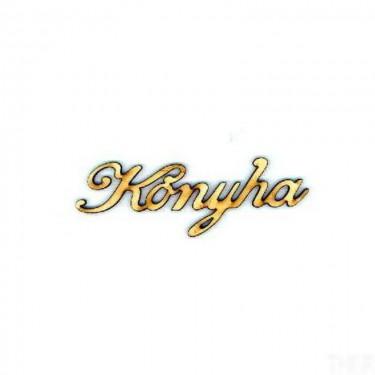 Festhető fafigura Konyha felirat kicsi 9x5.5 cm 1 db/cs