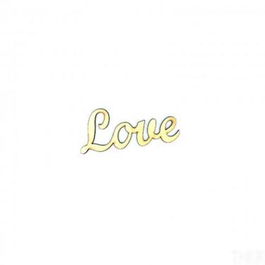 Festhető fafigura Love felirat kicsi 6.5x3 cm 1 db/cs