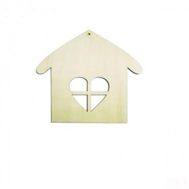 Festhető fafigura Házikó 21 cm 1 db/cs