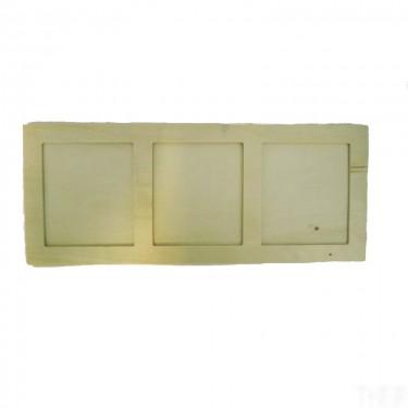 Zsúr háromablakos vékony képkeret 37x15 cm 5 db/cs