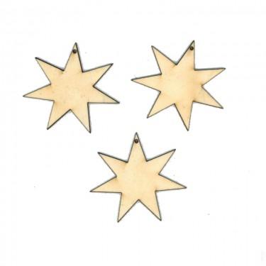 Festhető fafigura Hétágú csillag 3 db/cs