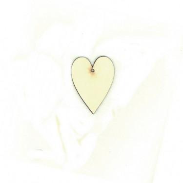 Festhető fafigura Nyújtott szív 9 cm 1 db/cs